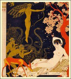 La Belle Helene, George Barbier, 1922.