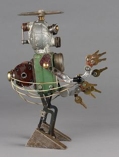 nelson - found object robot assemblage sculpture | by adopt-a-bot.  Brian Marshall