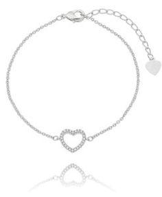 pulseira de coracao em prata semi joias finas