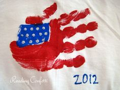 Handprint American Flags!