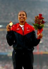 April Holmes  #olympics 200m, 100m, 200m and long jump