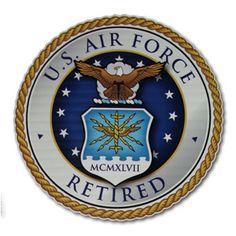 Retired Air Force Car Decal