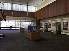 The Gerald R. Ford Presidential Library is located in Ann Arbor, Michigan.  It's located on the north campus at the University of Michigan.  It exhibits artifacts from President Ford's life in Michigan (he attended UM) and at the White House.   The Library maintains Ford's presidential, vice presidential and congressional papers.