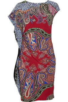 Etro Ruched printed crepe dress | THE OUTNET