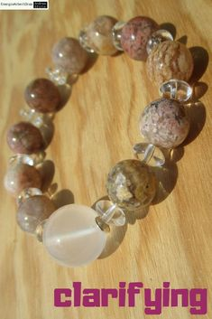 * GIRASOL QUARZ rosa MOOSACHAT ARMBAND * Moon Quartz pink Moss Agate Bracelet * Moss Agate, Pink, Quartz, Healing, Beaded Bracelets, Gemstones, Ebay, Jewelry, Armband