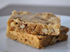Bourbon Blondies with Walnuts  (http://www.seriouseats.com/recipes/2013/09/bourbon-blondies-walnuts-recipe.html)