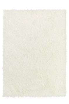 Polar White Shag Rug   Washable and Stain-Resistant   Ruggable