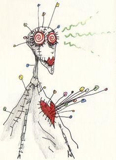 Voodoo Girl - Pincushion Heart, next tattoo?