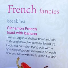 A different breakfast idea for Slimming World; Extra Easy. Delicious!