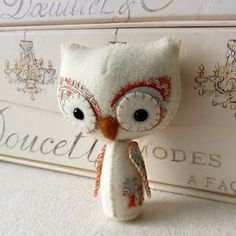Woodland Owl Pattern So Cute! (could make for my xmas tree, to join all the other bird ornaments)
