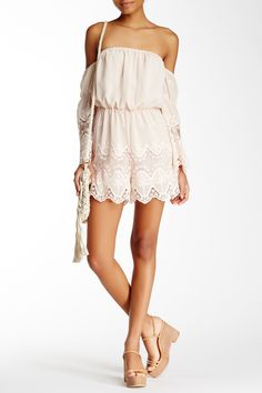 Embroidered Off-The-Shoulder Romper by Lucy Paris on @HauteLook