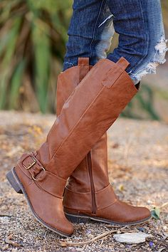 Take Me For A Ride Boots - Tan from Closet Candy Boutique