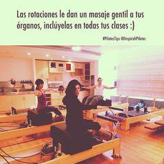 """@inspirahpilates's photo: """"Las rotaciones le dan un masaje gentil a tus órganos, inclúyelas en todas tus clases :) #PilatesTips"""""""