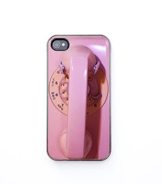 IN STOCK iPhone 4 Case, Back to school, pink phone, retro modern, vintage telephone, dial phone, retro decor, iPhone 4s, iPhone 4. $30.00, via Etsy.