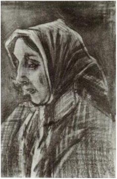 Vincent van Gogh Woman with Shawl over her Hair