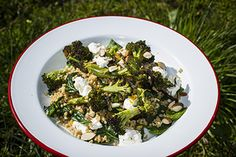 Charred broccoli with lemon and chilli ricotta – Recipes – Bite - Formerly Foodhub.co.nz