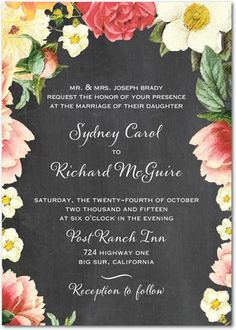 Floral Dreams - Signature White Engagement Party Invitations - East Six Design - Flint - Gray : Front Garden Wedding Invitations, Wedding Paper Divas, Engagement Party Invitations, Wedding Stationary, Bridal Shower Invitations, Wedding Cards, Stationary Design, Wedding Programs, Rustic Wedding