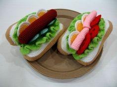 Crochet Pattern - HOTDOGS- Toys / Playfood - PDF (00458)