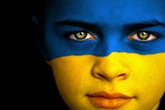 Face Painting Ideas - Part 4. Flag. Ukraine