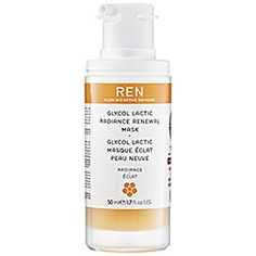 This mask makes your skin look glowy and more youthful, all while warding off blackheads.  REN GLYCOL RENEWAL MASK, $55,