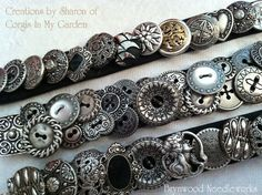 Button Floozies: Button Bracelets...  I would love to make this kind of bracelet.