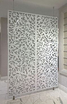 Razortoothdesign decorative screens, partitions, room dividers. LEAF pattern screens.