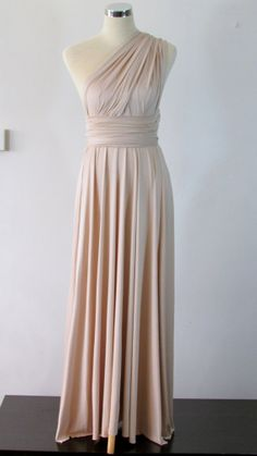 Convertible Dress in Champagne Infinity Dress by HerBridalParty, $55.00