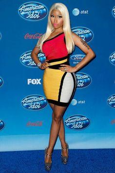 Nicki Minaj, dress, polka dot heels