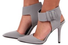 Lime Lush Boutique - Grey Suede Ankle Strap Pump, $49.99 (http://www.limelush.com/grey-suede-ankle-strap-pump/)