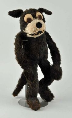 Large Straw-Filled Felix The Cat Doll (1920's)