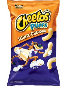 White Cheddar Cheetos - Finally!! Cheetos without the bright orange messy fingers!