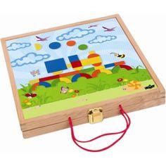 Magnetický kreativní kufřík s tvary Montessori, Kids Rugs, Shapes, Toys, Gifts, Home Decor, Products, Activity Toys, Presents
