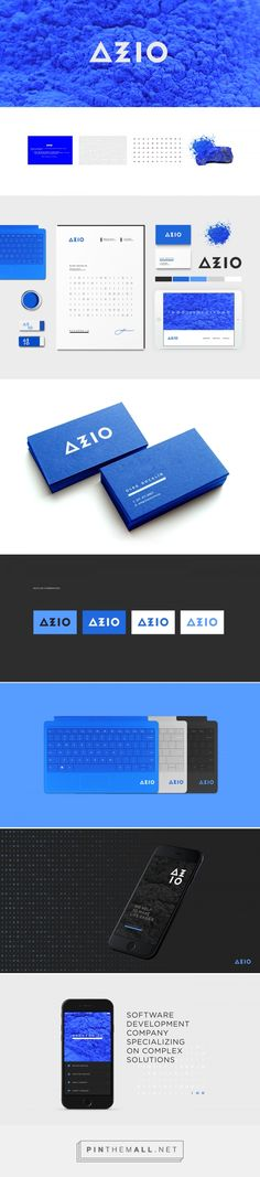AZZURRO.IO Software Development Company Branding by Irene Shkarovska | Fivestar Branding Agency – Design and Branding Agency & Curated Inspiration Gallery