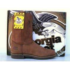 Georgia Boots Mens Wellington Leather Work Western Boots
