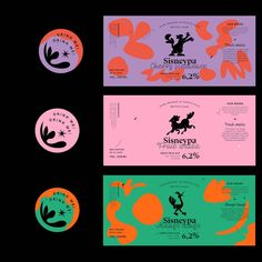 Natalia Pawlak's funky work draws inspiration from old cartoons and music - Knuddeln Bilder Ticket Design, Design Poster, Poster Designs, Design Typography, Logo Design, Design Art, Identity Design, Visual Identity, Wilde Mustangs