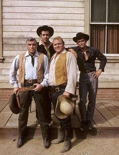 Lorne Greene, Dan Blocker, Michael London, Pernell Roberts - 8 1/2 X 11 | eBay