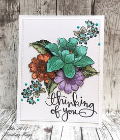 SSS June 14 altenew Garden Treasure stamp and colored embossing glittering one of the layers altenew