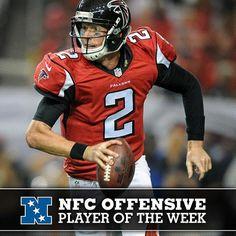 QB Matt Ryan named NFC Offensive Player of the Week. #Falcons #RiseUp
