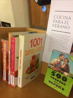Recetas para el verano. Selección de obras con recetas para hacer batidos, ensaladas, helados, zumos ... 1ª planta de la Biblioteca, junto a la Sección de Cocina.