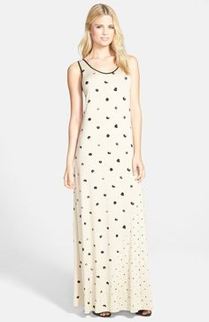 kensie Dot Print Maxi Dress available at #Nordstrom