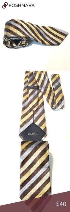 Men's CANALI Striped Necktie Men's striped beautiful Necktie Like New, hardly worn. Canali Accessories Ties