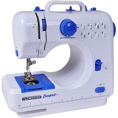 Americanas Máquina de Costura Incasa Compact Portátil Branco/Azul - R$ 161