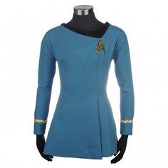 Star Trek Cosplay Female Duty Uniform Blue Dress Costumes