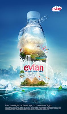 EVIAN Natural Spring Water on Behance