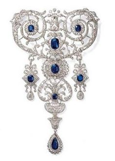 Cartier diamond and sapphire brooch, exquisite!