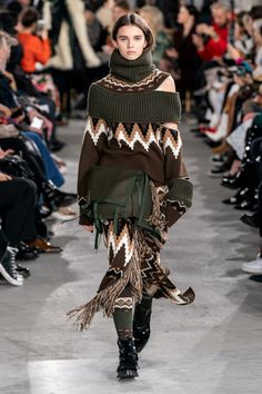 Sacai Herbst 2019 Ready-to-Wear-Kollektion - Vogue Fashion Week Paris, Boho Fashion, Autumn Fashion, Fashion Outfits, Jackets Fashion, Fashion Clothes, Mens Fashion, Dress Over Pants, How To Wear Flannels