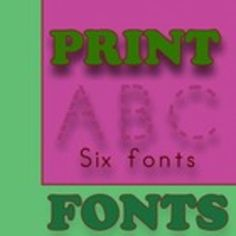 This collection of PRINT or MANUSCRIPT fonts is specially designed for teachers, so as they can easily create hundreds of handwriting, spelling & penmanship lessons for students.  It contains the following 6 fonts: