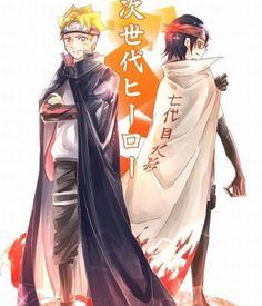 Naruto - Boruto Uzumaki x Sarada Uchiha - BoruSara Naruto Shippuden Sasuke, Anime Naruto, Naruto Comic, Tenten Y Neji, Sarada E Boruto, Naruto Fan Art, Manga Anime, Naruhina, Narusaku