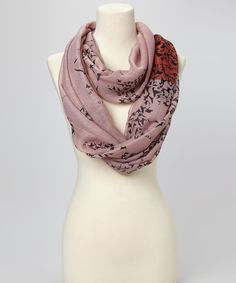 Take a look at this Mauve Bird Infinity Scarf on zulily today!