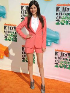 Here it is again- Coral in a sassy suit! #Fashion